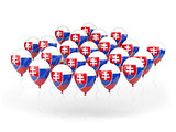 Balloons with flag of slovakia