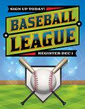 Baseball League Illustration