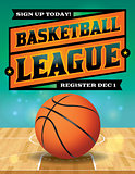 Basketball League Flyer Illustration