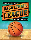 Basketball League Flyer Illustration