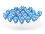Balloons with flag of somalia