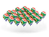 Balloons with flag of south africa
