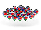 Balloons with flag of south sudan