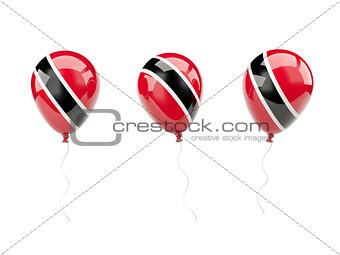 Air balloons with flag of trinidad and tobago