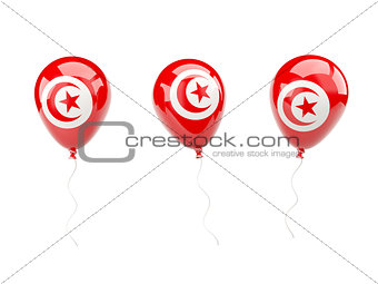 Air balloons with flag of tunisia