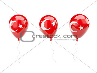 Air balloons with flag of turkey