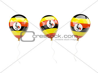 Air balloons with flag of uganda