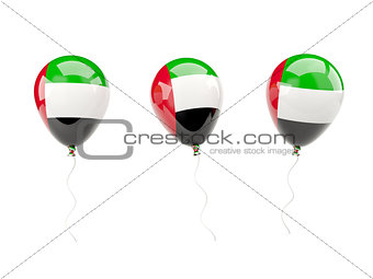 Air balloons with flag of united arab emirates