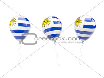 Air balloons with flag of uruguay