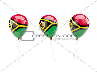 Air balloons with flag of vanuatu