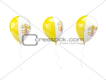 Air balloons with flag of vatican city