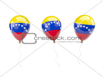 Air balloons with flag of venezuela