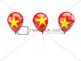 Air balloons with flag of vietnam