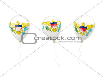 Air balloons with flag of us virgin islands