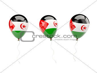 Air balloons with flag of western sahara