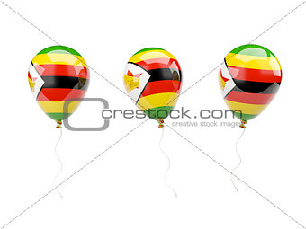 Air balloons with flag of zimbabwe
