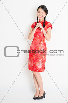Asian chinese girl blessing