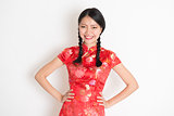 Asian chinese girl in qipao