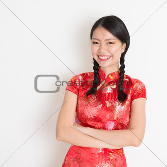 Asian chinese girl cheongsam