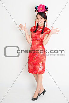 Asian chinese girl with princess hat