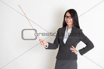 Asian female teacher