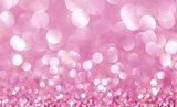 pink abstract glitter bokeh lights. defocused lights background.