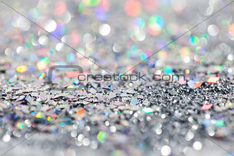 Abstract silver christmas winter background