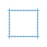 Blue chain in shape of square