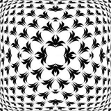 Design warped convex monochrome pattern