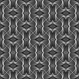 Design seamless monochrome warped pattern