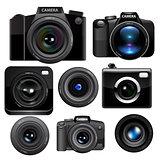 Camera set. Vector