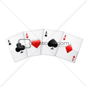 Cards. Vector icon.