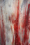 Red brush strokes texture.