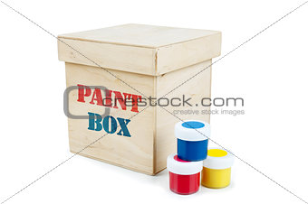 Paint can with blank white label for type, isolated with clipping path