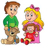 Children with toys theme image 1