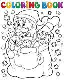 Coloring book Santa Claus in snow 4
