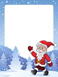 Frame with Santa Claus theme 2