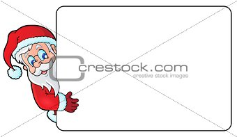 Frame with Santa Claus theme 3