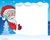 Frame with Santa Claus theme 4