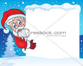 Frame with Santa Claus theme 4