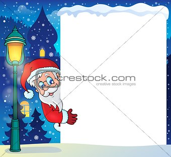 Frame with Santa Claus theme 5