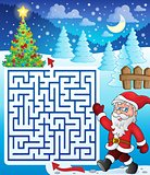Maze 3 with walking Santa Claus
