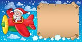 Santa Claus in plane theme image 7