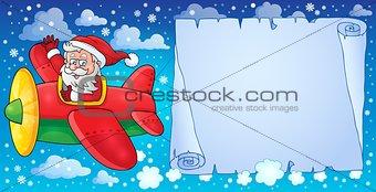 Santa Claus in plane theme image 8