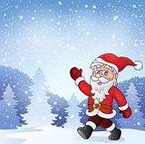 Santa Claus walk theme 7