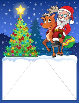 Small frame with Santa Claus 9
