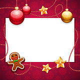 Red Christmas Background with Copy Space