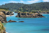 Islet in the bay of Mendocino, California