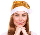 Cute Santa woman portrait