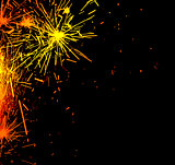 Bright border of firework sparks